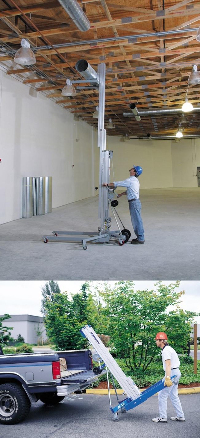 elevatore di materiali a noleggio