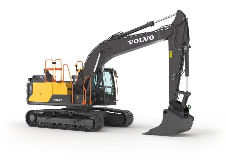 noleggio escavatore cingolato Volvo a Padova