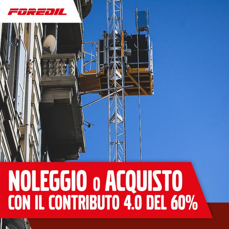 NOLEGGIO o ACQUISTO Ascensori – Contributo 4.0 del 60%